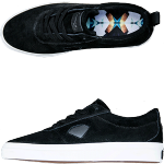 Diamond The Icon Black Suede Skate Shoes