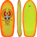 "Dogtown Bigfoot Classic Yellow Orange Fade 11.875"" Skateboard Deck"