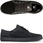 DVS Aversa Black Black Suede Skate Shoes