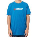 Element Horizontal Youth Tee Washed Blue