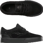 Emerica Youth Reynolds Low Vulc Black Skate Shoes