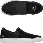 Emerica Wino G6 Slip-On Black White Skate Shoes
