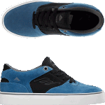 Emerica Youth Reynolds Low Vulc Blue Black White Skate Shoes