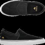 Emerica Youth Wino G6 Slip On Black White Skate Shoes