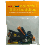 Enjoi Colorful Little Buddies Allen Bolts 1""