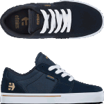 Etnies Kids Barge LS Navy Skate Shoes