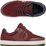 Etnies Kids Marana Burgundy Skate Shoes