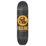 "Folklore Wood Stained Logo Pumpkin 8"" Skateboard"
