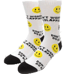 Girl Don't Worry White Skateboard Socks