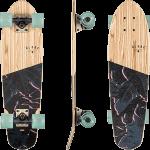 "Globe Blazer Olive Wood Fossil 26"" Cruiser Skateboard Complete"