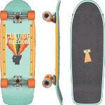 "Globe Burner Cult Of Freedom Explode 30"" Cruiser Skateboard Complete"