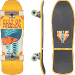 "Globe Blaster Cult Of Freedom Wavehead 30"" Cruiser Skateboard Complete"