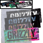 Grizzly Stamp Stickers 4 Pack