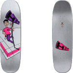 "H-Street Hensley Full Size Mini Graphic Silver 8.9"" Skateboard Deck"