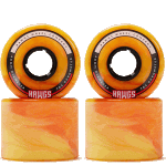Hawgs Chubby 60mm 78a Cruiser Skateboard Wheels Orange Swirl