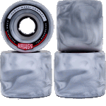 Hawgs Fatty 63mm 78a Grey White Swirl Longboard Cruiser Wheels
