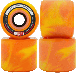 Hawgs Fatty 63mm 78a Orange Swirl Longboard Cruiser Wheels