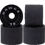 Hawgs Supremes 70mm 78a Longboard Wheels Black