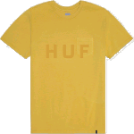 Huf OG Logo Mineral Yellow Pocket Tee