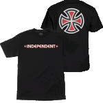 Independent Bar Cross Black Youth Tee