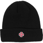 Independent Cross Fold Over Black Beanie