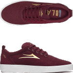 Lakai Bristol Burgundy Suede Skate Shoes