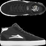 Lakai Flaco II Mid Black Suede Skate Shoes