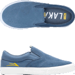 Lakai Kids Owen Slate Suede Slip On Skate Shoes