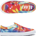 Lakai Kids Owen Tie Dye Slip On Skate Shoes