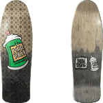 "New Deal Spray Can Metallic Black Fade 9.75"" Skateboard Deck"