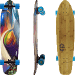 "Omen Going Off 40"" Surf Craft Series Complete Cruiser Longboard"