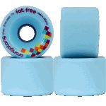 Orangatang Fat Free 65mm 77a Blue Longboard Skateboard Wheels