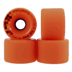 Orangatang Fat Free 65mm 80a Orange Longboard Skateboard Wheels