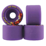Orangatang Fat Free 65mm 83a Purple Longboard Skateboard Wheels