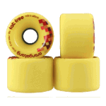 Orangatang Fat Free 65mm 86a Yellow Longboard Skateboard Wheels