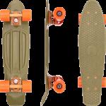 """Penny Burnt Olive 22"""" Complete Cruiser Skateboard"""