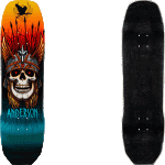 "Powell Peralta Flight Pro Anderson Heron 8.45"" Skateboard Deck"