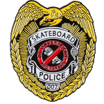 Powell Peralta Lapel Skateboard Police Pin