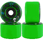 Powell Peralta SSF Snakes 69mm 75a Green Longboard Wheels