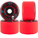 Powell Peralta SSF Snakes 69mm 75a Red Longboard Wheels