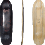 "Rayne Darkside 34"" Red Skull Longboard Deck"
