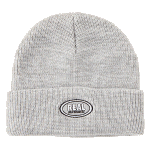 Real Oval Embroidered Cuff Grey Beanie