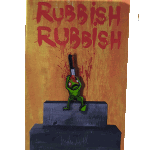 Rubbish Rubbish Bo Turner AWS Lapel Pin