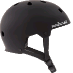 Sandbox Legend Low Rider Matte Black Skateboard Helmet
