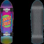 "Santa Cruz Dot Pink Blue Fade 9.42"" Cruiser Skateboard Complete"
