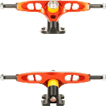 Skoa Vertex Burnt Orange CNC 172mm 47° Precision Longboard Trucks