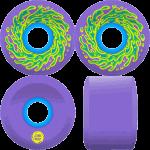 Slime Balls OG Slime 66mm 78a Neon Purple Cruiser Skateboard Wheels