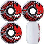 Spitfire Charger Classic 54mm Clear Red 80a Skateboard Wheels
