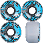 Spitfire Charger Conical 54mm Clear Blue 80a Skateboard Wheels