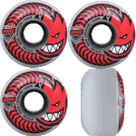 Spitfire Charger Classic 56mm Clear Red 80a Skateboard Wheels